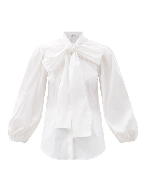 RED Valentino バルーンスリーブ ポプリンシャツ White