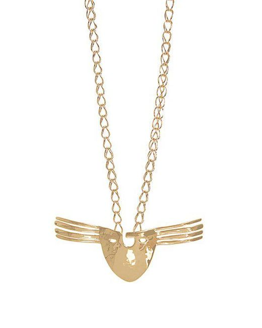 Aurelie Bidermann - Metallic Melina Mask Gold-plated Necklace - Lyst