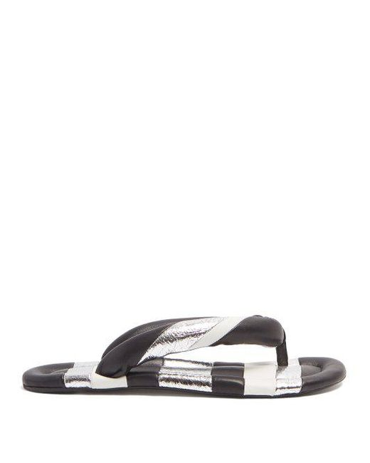 Isabel Marant Leather Eckily Sandals in Multi. HDUN9Fk5HS