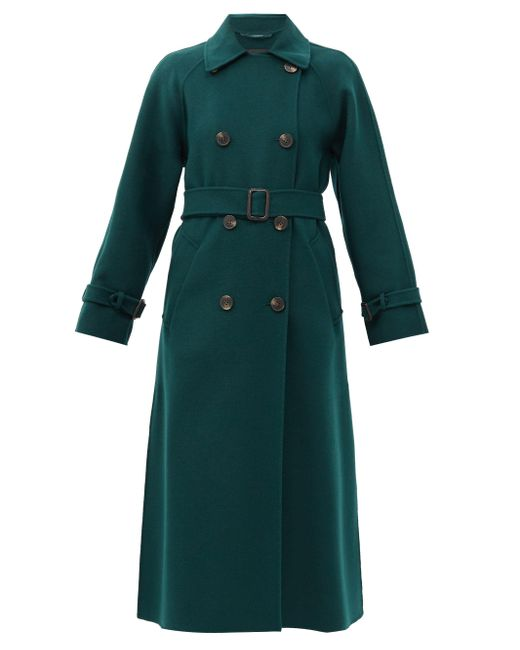 Weekend by Maxmara Green Potente Trench Coat
