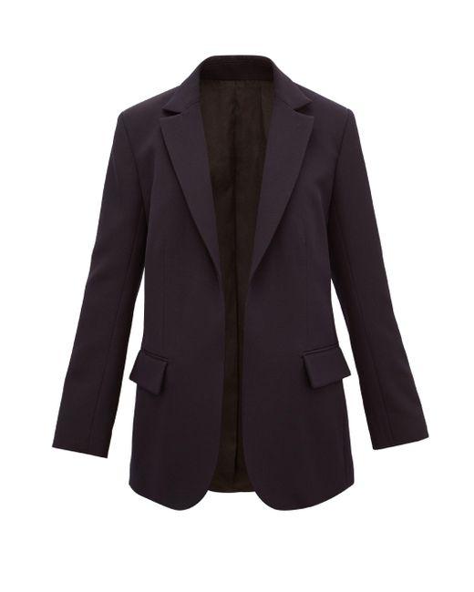 Raey ウールツイル シングルジャケット Blue