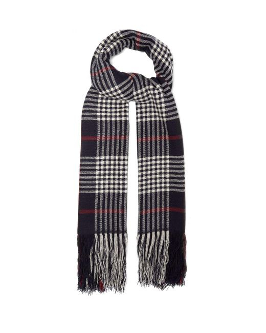 Isabel Marant - Blue Checked Cashmere Scarf - Lyst