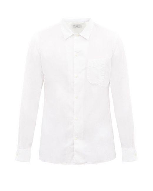 メンズ Officine Generale Officine Générale Js コットンリネンポプリンシャツ White