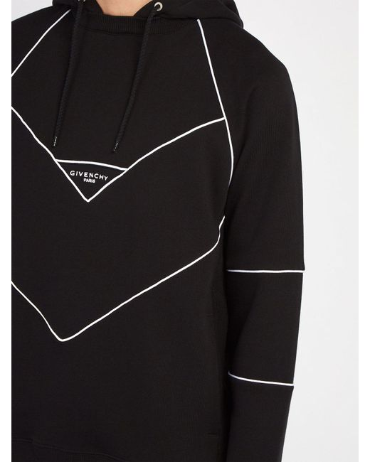 f5f9876555 Men's Black Logo Embroidered Hooded Cotton Sweatshirt