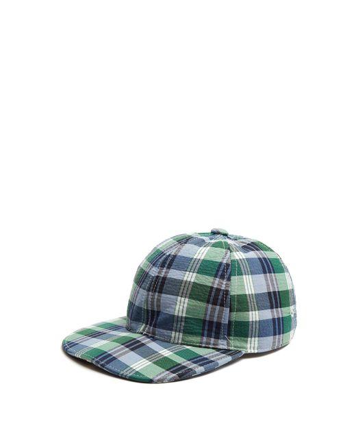 Thom Browne - Six Panel Check Baseball Cap Blue for Men - Lyst