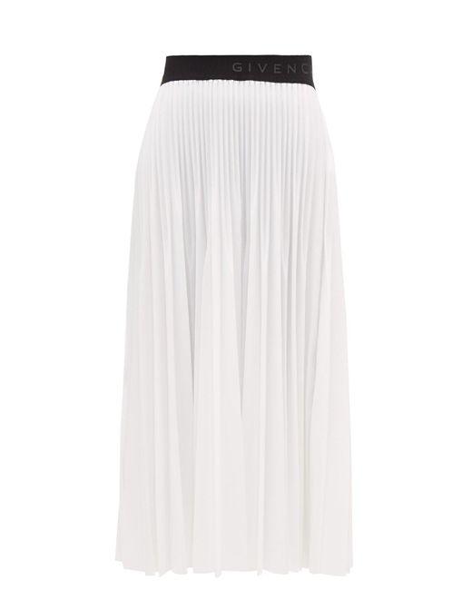 Givenchy ラッカードガーゼ プリーツスカート White