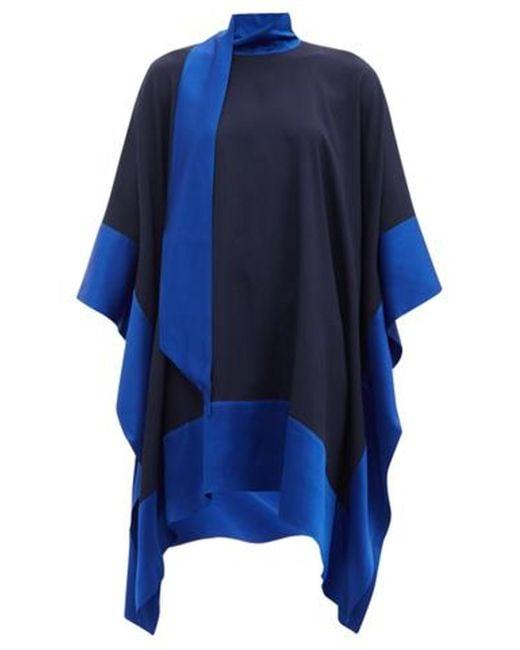 Taller Marmo パーム ビーチ クレープドレス Blue