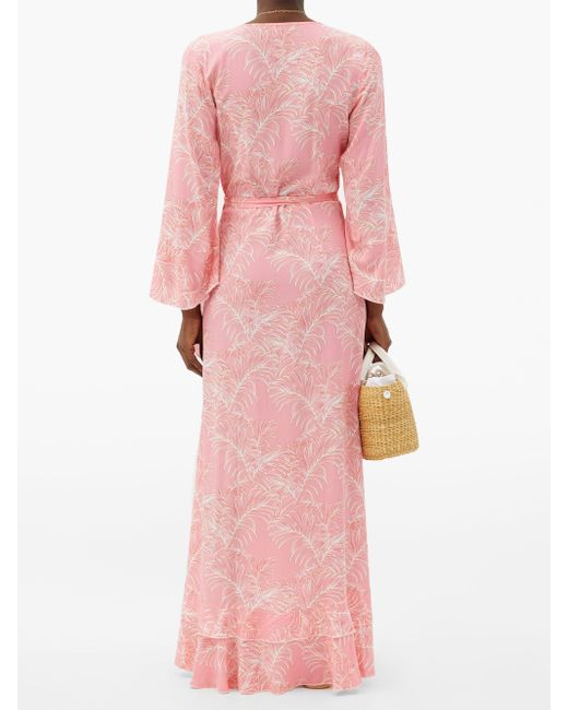 Melissa Odabash シェリル リーフ マキシラップドレス Pink