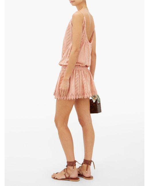 Melissa Odabash Chelsea コットンミニドレス Pink