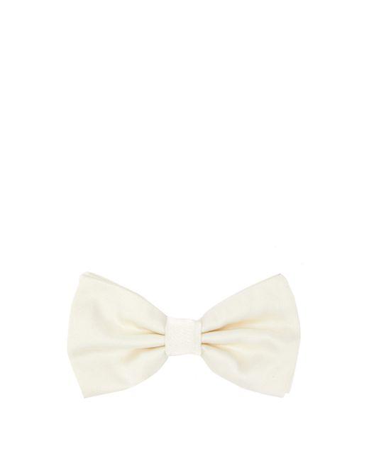 メンズ Dolce & Gabbana シルクファイユ ボウタイ White