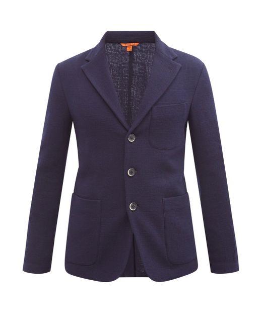 メンズ Barena トルセオ ウールシングルジャケット Blue