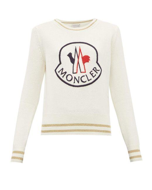 Moncler ロゴエンブロイダリー ウールブレンドセーター Multicolor