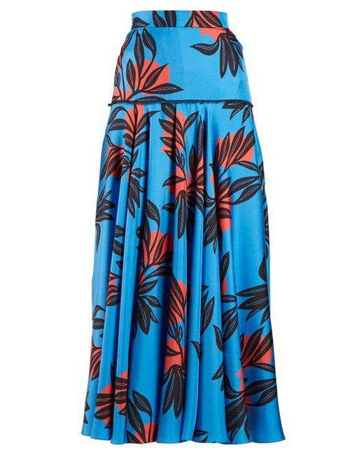 Roksanda - Blue Oni High-rise Floral-print Silk Skirt - Lyst ...