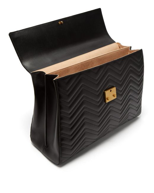 3d1590c1fa57 ... Gucci - Black Gg Marmont Leather Briefcase for Men - Lyst ...