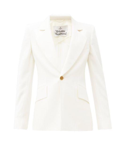 Vivienne Westwood ロウ ロウ バージンウールキャディジャケット White