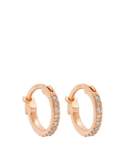 Ileana Makri - Multicolor Diamond & Rose-gold Earrings - Lyst