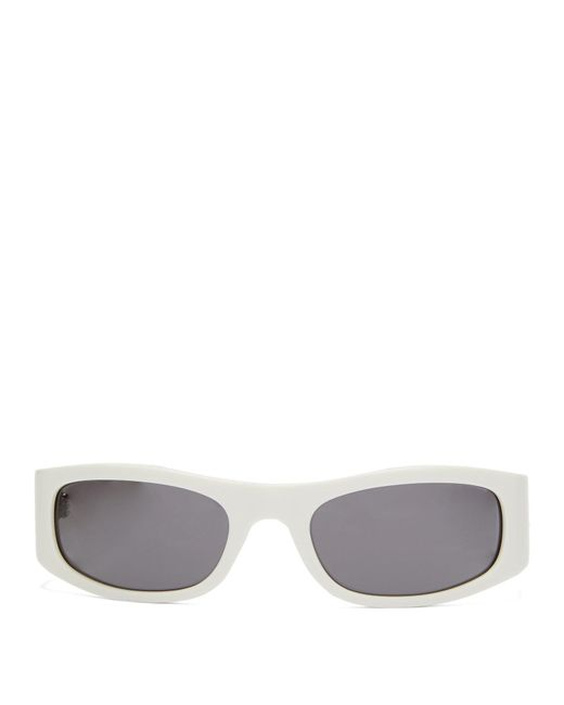 Céline White Oval Acetate Sunglasses