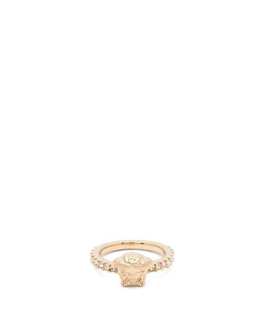 Versace Metallic Medusa Pavé Crystal Ring