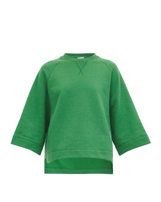 Ganni リサイクルコットンブレンド スウェットシャツ Green