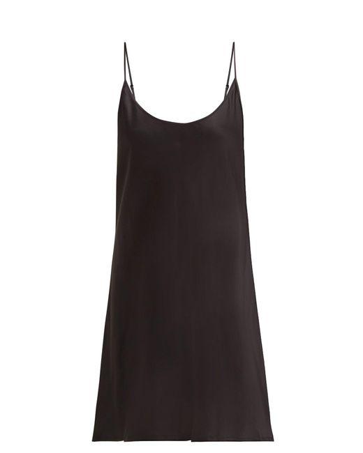 La Perla Semplice シルクサテン スリップドレス Black