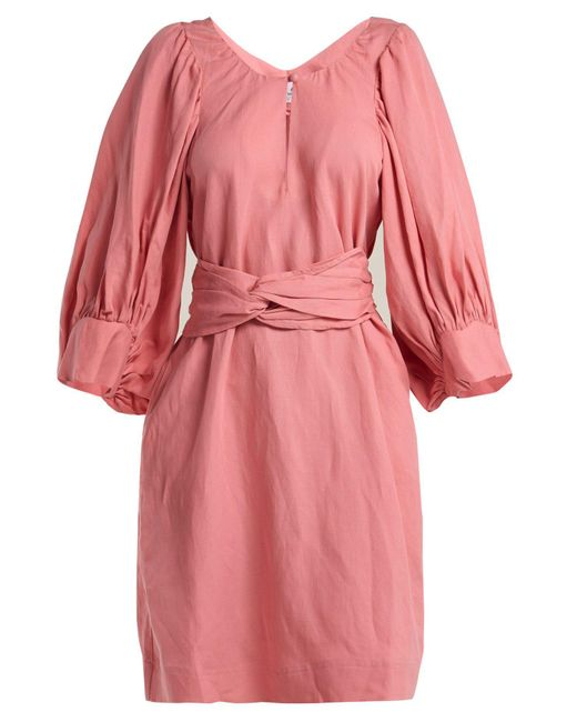 Apiece Apart - Pink Odesa Balloon Sleeve Dress - Lyst
