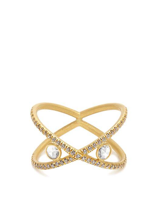 Susan Foster - Metallic Diamond & Yellow-gold Ring - Lyst
