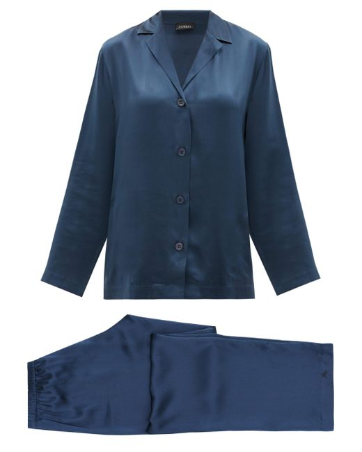 La Perla シルクパジャマ Blue
