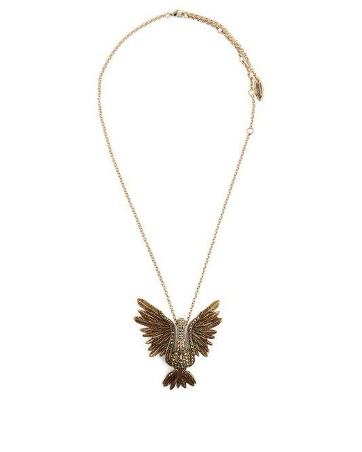 Lanvin - Metallic Crystal-embellished Swan Necklace - Lyst