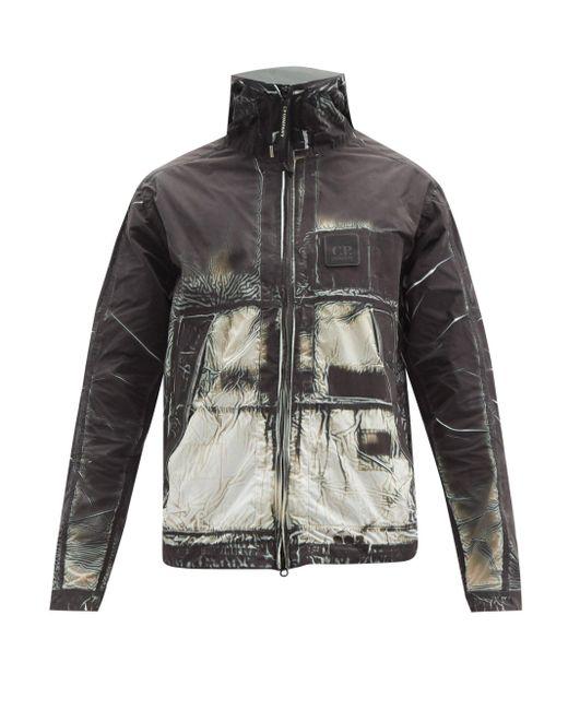 メンズ C P Company アブストラクトプリント フーデッドジャケット Multicolor