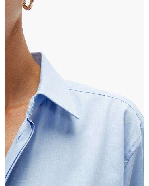 Bottega Veneta オーバーサイズ コットンシャンブレーシャツ Blue