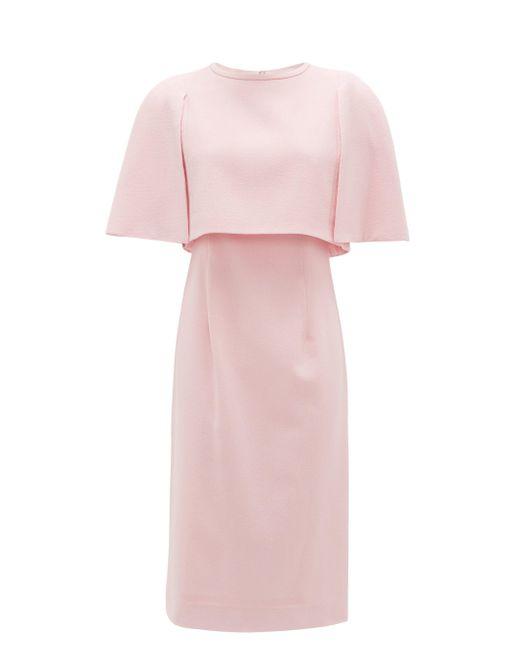 Goat ケープ ウールクレープドレス Pink
