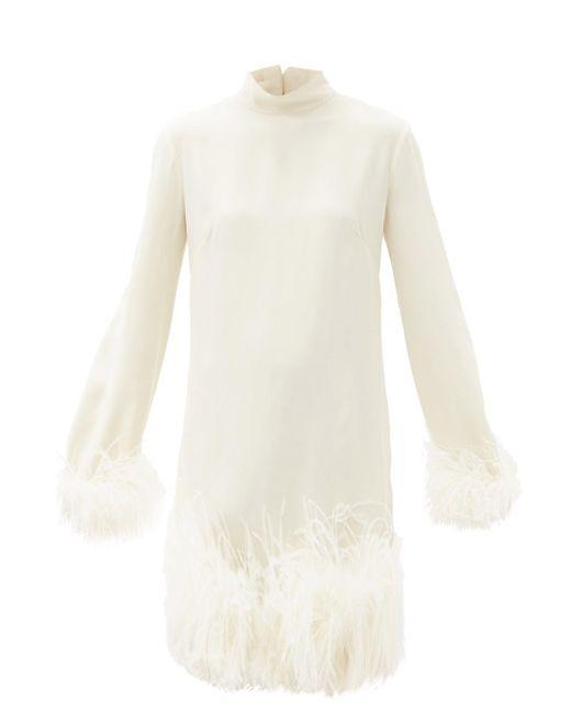 Taller Marmo ジーナ フェザートリム クレープドレス Multicolor