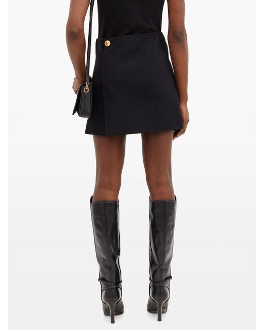 Versace メデューサボタン ミニスカート Black