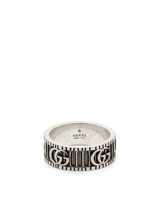 Gucci - Metallic 8mm Gg Logo Ring for Men - Lyst