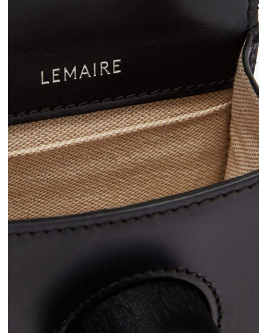 メンズ Lemaire カメラ ミニ レザーバッグ Black