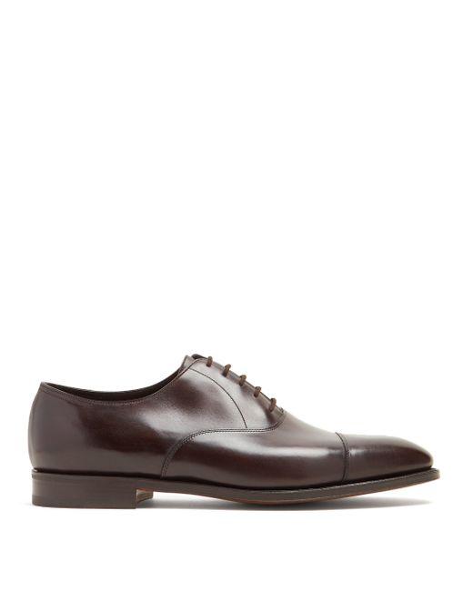 Chaussures oxford en cuir City II John Lobb pour homme en coloris Brown