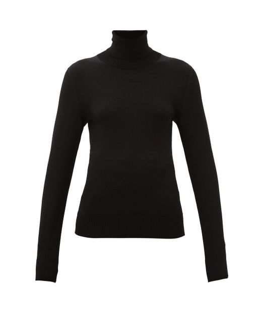 Dolce & Gabbana タートルネック ジャージーセーター Black