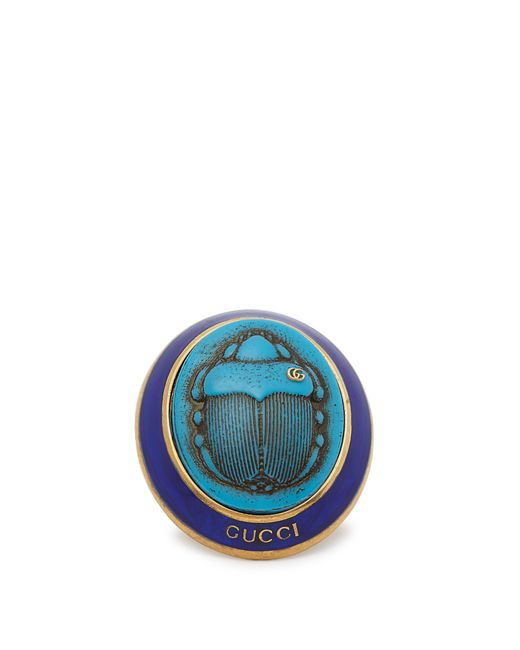 Gucci - Blue Ring With Beetle Cameo - Lyst