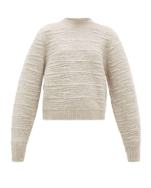 The Row Natural Nuru Wool-blend Bouclé Sweater