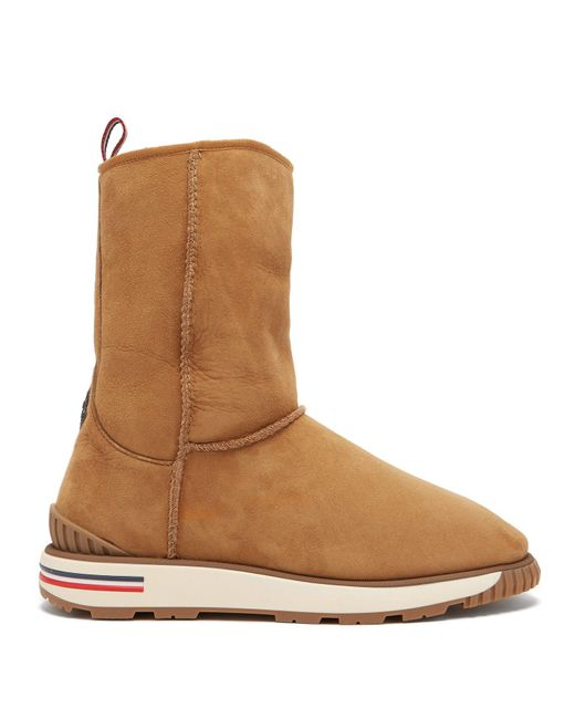 Moncler Brown Gaby Shearling-lined Boot for men
