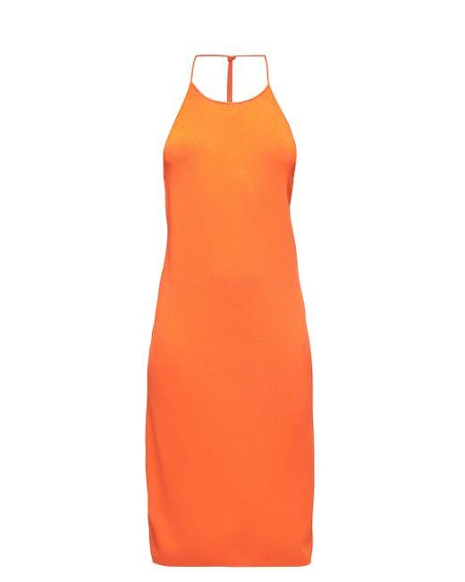 Bottega Veneta ノットストラップ ドレス Orange