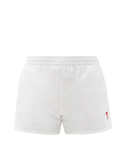 メンズ AMI De Coeur スイムショーツ White
