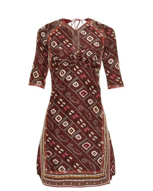 Isabel Marant | Multicolor Tacey Open-back Printed Dress | Lyst