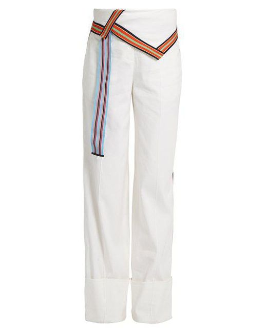 Linen-blend trousers Diane Von F YpjUh1KK