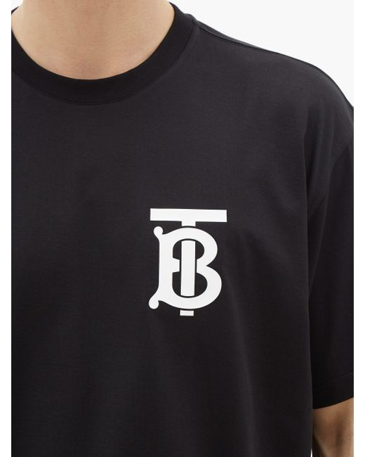 メンズ Burberry エマーソン Tb コットンtシャツ Black