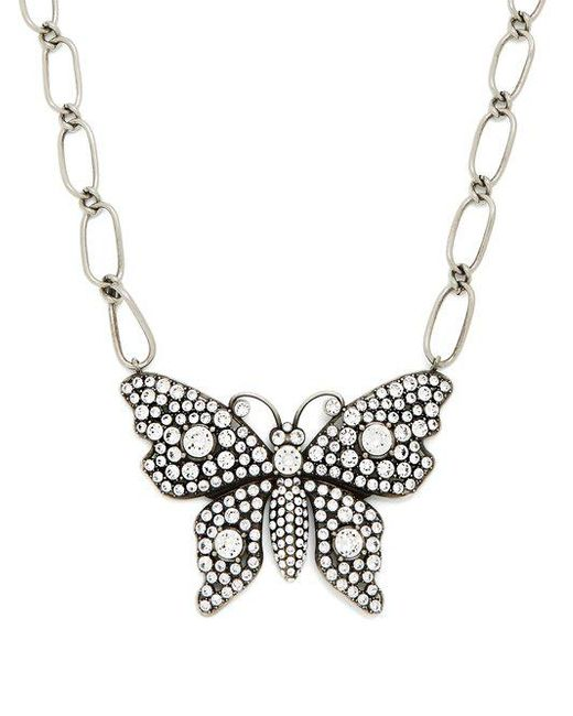 Gucci Butterfly crystal-embellished necklace MMHp5NO