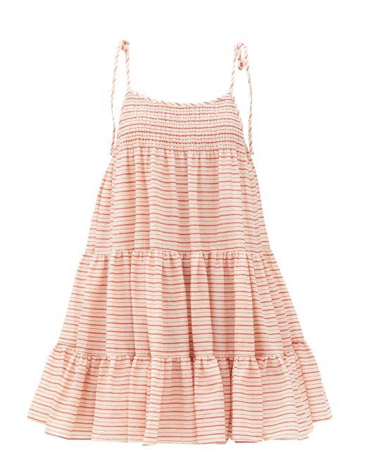 Solid & Striped ザ パーカー ストライプ コットンミニドレス Pink