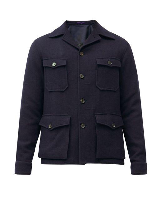 メンズ Ralph Lauren Purple Label スノードン カシミアジャケット Blue