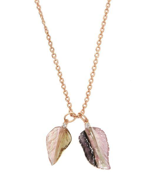 Irene Neuwirth - Pink Diamond, Tourmaline & Rose Gold Necklace - Lyst