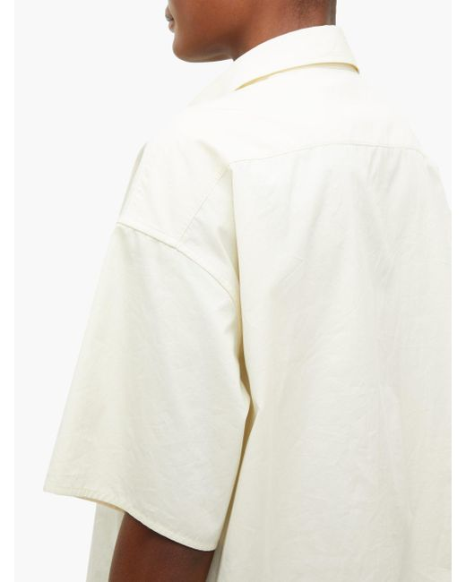 The Row シッサ ポプリン ショートスリーブシャツ White